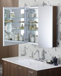 how high to hang cabinet over toilet