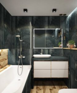 how high should you hang a cabinet over the toilet?